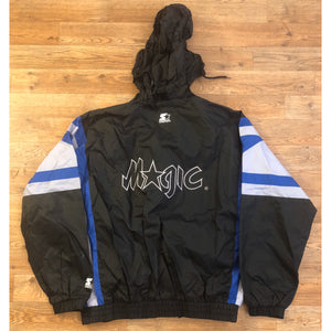RARE DOPE VINTAGE NBA STARTER ORLANDO MAGIC JACKET WITH HIDEAWAY HOODY