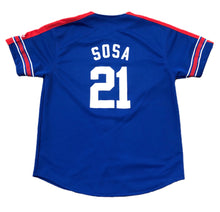 Load image into Gallery viewer, Vintage 90's Starter Sammy Sosa #21 (XL) Chicago Cubs Button Up Baseball Jersey