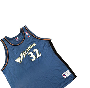 Vintage Champion Washington Wizards Richard Hamilton Jersey Men's 2XL (52) Blue