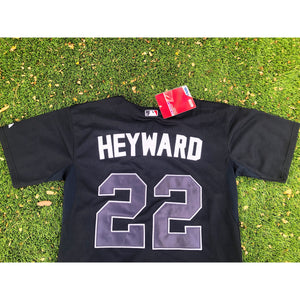 Majestic Atlanta Braves Jason Heyward MLB Baseball Black Authentic Jersey BWT