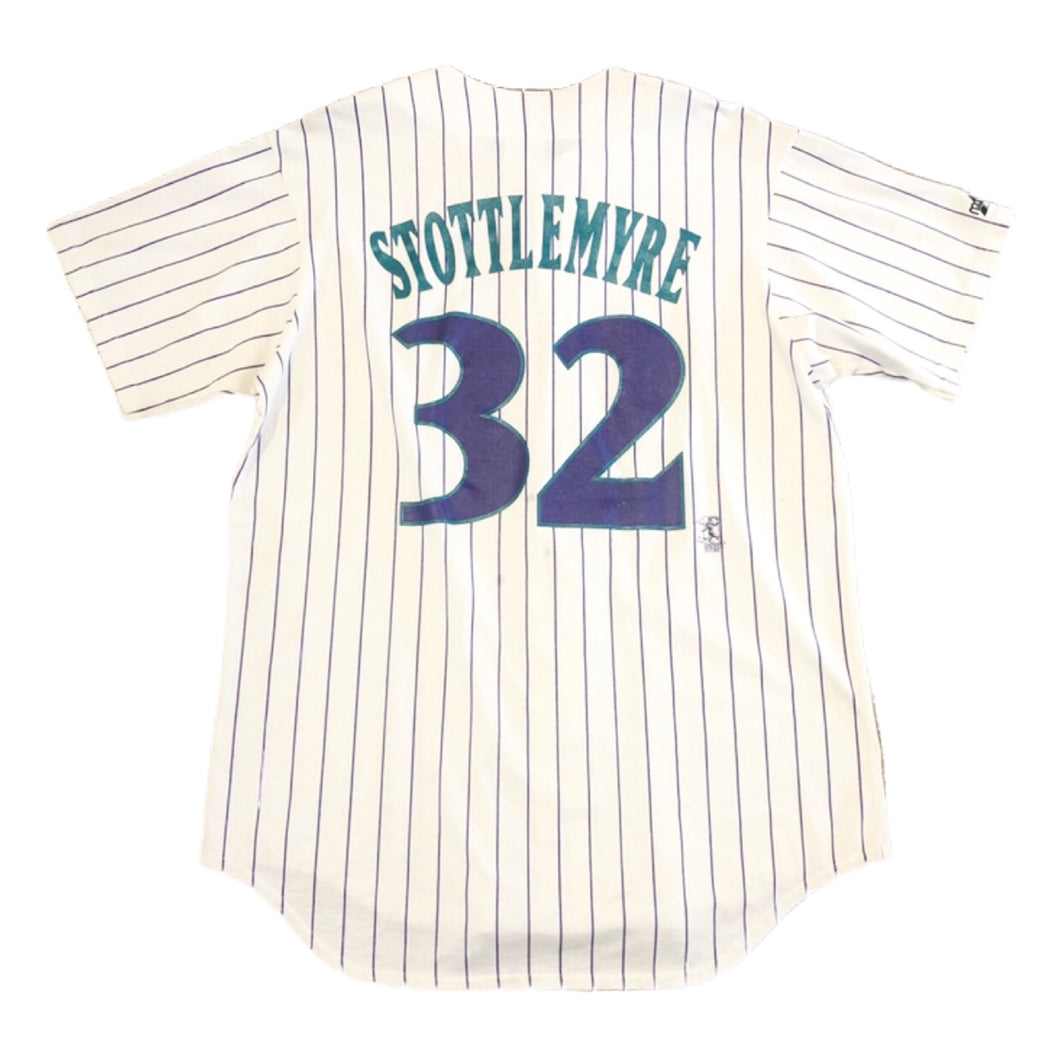 Arizona Diamondbacks Todd Stottlemyre Rare VTG M Gray Majestic Jersey T-Shirt