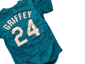 Vintage Ken Griffey Jr. Seattle Mariners Alternate Teal Jersey Men's S Authentic