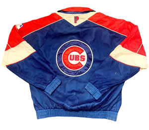 RARE VTG CHICAGO CUBS PRO PLAYER WINDBREAKER JACKET EMBROIDERED L LARGE VINTAGE