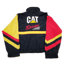 Load image into Gallery viewer, VINTAGE NASCAR 90's CAT RACING FULL ZIP JACKET