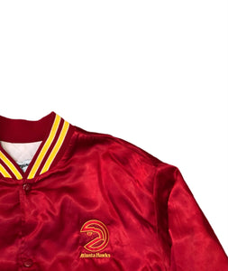 Rare Vintage Swingster NBA Atlanta Hawks Satin Bomber Jacket XL Red USA 90s 80s