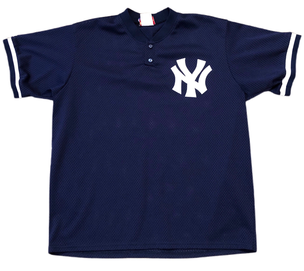 MENS XL Vtg 90s MLB New York Yankees Majestic Diamond Collection Jersey USA