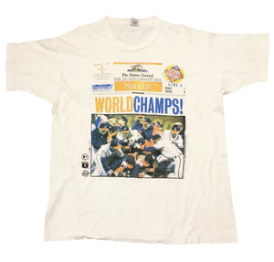 1995 Atlanta Braves World Series Atlanta Journal Champions T-Shirt Men's XL