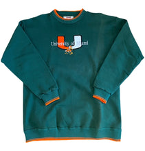Load image into Gallery viewer, Vintage Stitched Miami Hurricanes Graphic Crewneck Sweatshirt Sweater L Large