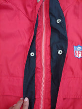 Load image into Gallery viewer, Vintage NFL Logo Hooded Jacket by Spotlight Size Large 49ers patriots