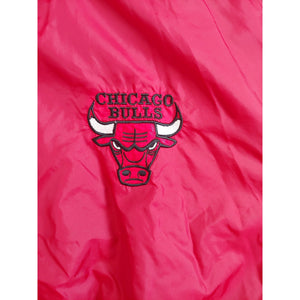 Men's Chicago Bulls Reversible Pullover Jacket, XL, 1/3 front zip, Vintage