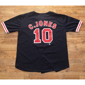 Vintage Sports Attack Atlanta Braves Chipper Jones MLB Baseball Authentic Jersey