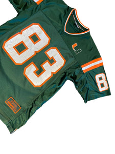 MIAMI HURRICANES #83 ANDRE BURT VINTAGE COLOSSEUM NCAA JERSEY MENS M The U VTG