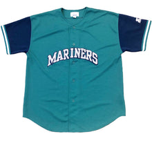 Load image into Gallery viewer, Vintage Seattle Mariners Starter Baseball Jersey Size XL