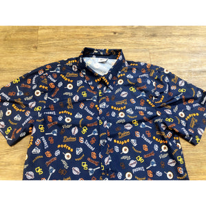 VINTAGE SAN DIEGO PADRES BUTTON UP SHORT SLEEVE SHIRT