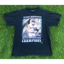 Load image into Gallery viewer, VINTAGE 1999 MATT WILLIAMS ARIZONA DIAMONDBACKS WESTERN DIVISION CHAMPIONS MLB BASEBALL TEE T-SHIRT