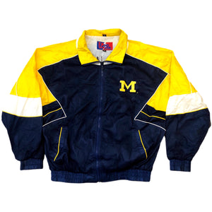 Vintage Pro Player Daniel Young 90s NBA Michigan Windbreaker Jacket XL Wolverines