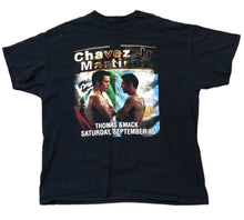 Load image into Gallery viewer, Boxing T Shirt Martinez Vs Chavez Jr Showdown Sz 2XL Black Vtg Vintage Rap Tee