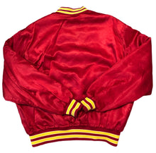 Load image into Gallery viewer, Rare Vintage Swingster NBA Atlanta Hawks Satin Bomber Jacket XL Red USA 90s 80s