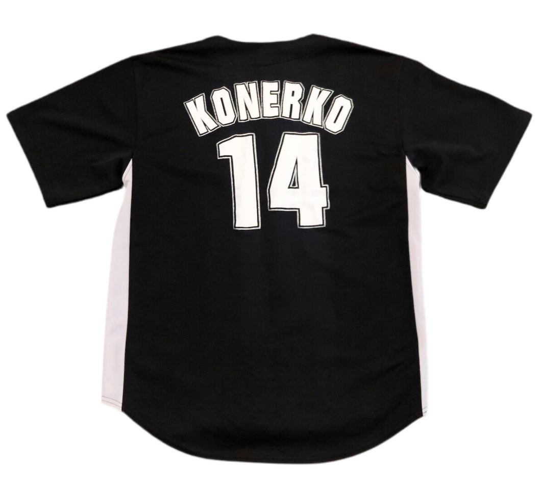 CHICAGO WHITE SOX MLB BUTTON DOWN JERSEY MEN XL  PAUL KONERKO  NO. 14 TRUE FAN