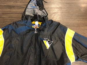 DOPE VINTAGE NHL STARTER PITTSBURGH PENGUINS JACKET WITH HIDEAWAY HOODY
