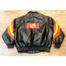 Load image into Gallery viewer, CLASSIC NCAA ASU ARIZONA STATE UNIVERSITY FAUX LEATHER VARSITY JACKET