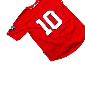 Washington Nationals Stiched Red Majestic Authentic Jersey MLB Mens 50 XXL