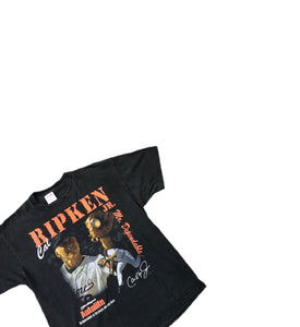 VTG Cal Ripken Jr Fram Promo Mens Tshirt XL Baltimore Orioles 90s Single Stitch