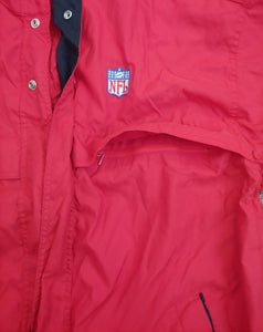 Vintage NFL Logo Hooded Jacket by Spotlight Size Large 49ers patriots