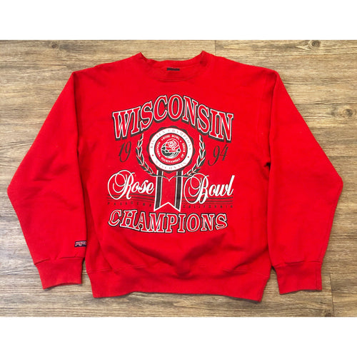 VINTAGE 1994 WISCONSON BADGERS ROSE BOWL JANSPORT CREWNECK SWEATSHIRT SWEATER