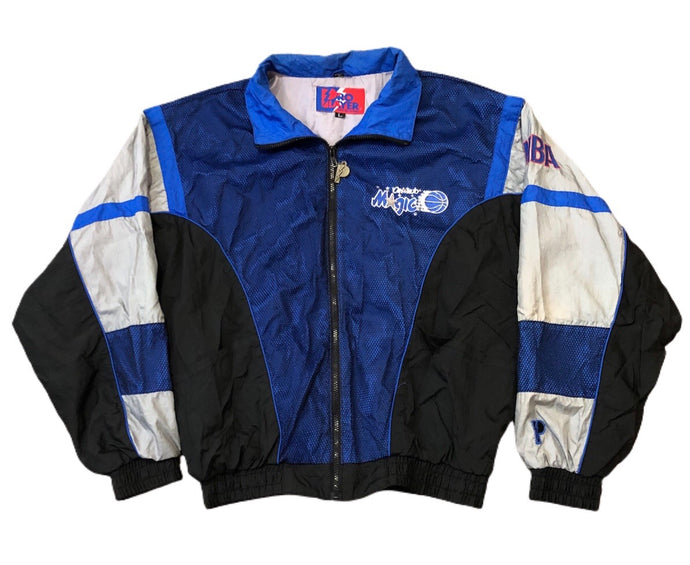 Orlando Magic Pro Player Blue Daniel Young Vintage Zip Up Windbreaker Jacket Size Large
