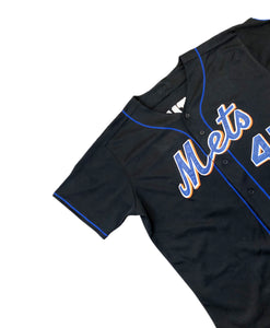 PEDRO MARTINEZ MAJESTIC NEW YORK METS GAME JERSEY #45 BLACK 3XL SEWN MADE USA