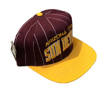 Load image into Gallery viewer, Vintage 90's Starter Arizona State University Sun Devils Pinstriped Snapback Hat