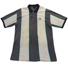 Load image into Gallery viewer, Vintage Mens Seattle Mariners Short Sleeve Striped Polo Antigua Gray Size XL