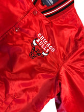 Load image into Gallery viewer, RARE VINTAGE JEFF HAMILTON CHICAGO BULLS EASTERN CONFERENCE NBA Satin JACKET