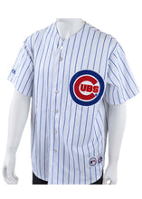 Load image into Gallery viewer, Vintage Pinstripe Chicago Cubs Majestic Men's White MLB Baseball Jersey - XL