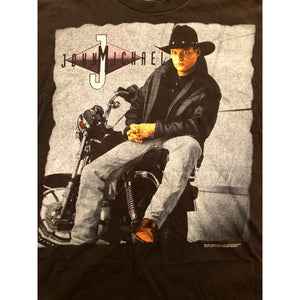 VINTAGE 1995 JOHN MICHAEL MONTGOMERY COUNTRY MUSIC TOUR RAP TEE T-SHIRT