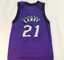 Load image into Gallery viewer, VINTAGE CHAMPION NBA MARCUS CAMBY TORONTO RAPTORS WOMENS V CUT JERSEY