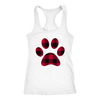 Buffalo Plaid Puppy Paw Print - Ladies Racerback Tank Top Women - PLUS Size XS-2XL - MADE IN THE USA by Model Paws