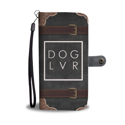 Dog Lover Buckle Cell Phone Wallet Case