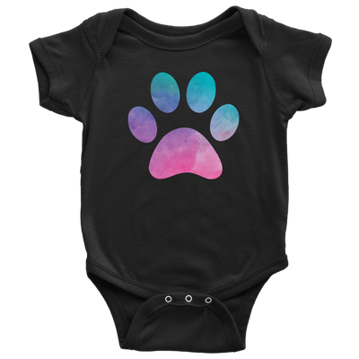 Watercolor Pastel Paw Baby Onesie 11 Colors AVAILABLE Size: Newborn - 24M - Infant Jersey Bodysuit - MADE IN THE USA