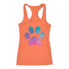 Pastel Watercolor Puppy Paw Print - Ladies Racerback Tank Top Women - PLUS Size XS-2XL - MADE IN THE USA by Model Paws