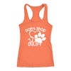Don't Shop Adopt Paw Print - Ladies Racerback Tank Top Women - PLUS Size XS-2XL - MADE IN THE USA
