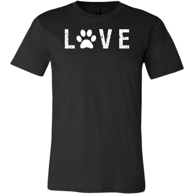 LOVE Paw Print UNISEX STYLE T-SHIRT SIZES S-3XL