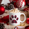 Coffee Cup Buffalo Plaid Puppy Paw Mug