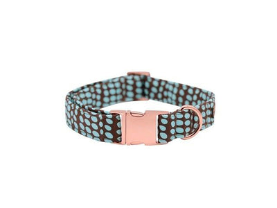 Mint Chocolate Polka Dot DOG COLLAR|BOWTIE|LEASH