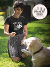 Don't Shop Adopt Paw Print - TriBlend T-shirt - PLUS Size Tee S-2XL MADE IN THE USA