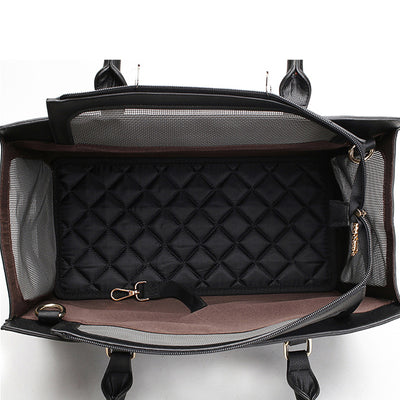 Luxury Pet Purse Travel Carrier Tote Bag Black