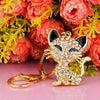 Pretty Kitty Cat Crystal Rhinestone Keychain