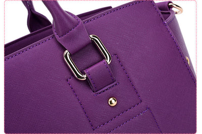 Luxury Pet Purse Travel Carrier Tote Bag Purple