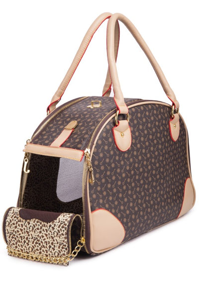 Luxury Puppy Purse Vegan Leather Luggage Dog Pet Carriers